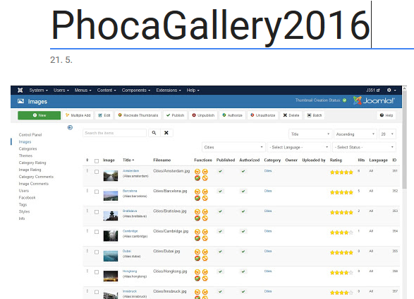 Phoca Gallery - Google Photos - create new album