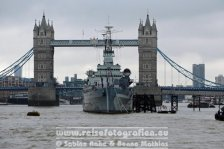 UK | England | London | Southwark | Tower Bridge & HMS Belfast |