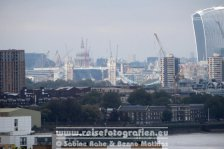 UK | England | London | Greenwich | Blick auf London CBD |